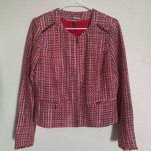 White House Black Market Tweed Blazer Size 10